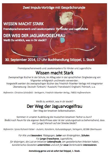 Einladung vom Färber-Verlag und vom Friedrich-Maerker-Verlag